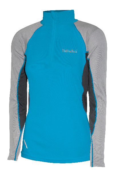 WOMENS LONG SLEEVE 1/4 ZIP - Click Image to Close