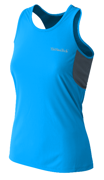 WOMENS UPF50 SINGLET - Click Image to Close
